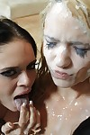 Teen Teagan Summers gets into a hot orgy and has cum all over her face