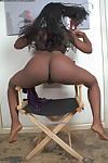 Amateur ebony Neferitti is demonstrating her stunning black booty