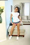 18 year old sweetie Tanner Mayes flashing pink panties underneath skirt
