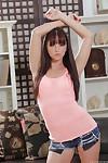Slender brunette Hope Howell is demonstrating her lovely tiny boobies