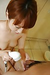 Teenager Chihiro Ozawa is giving a good deep blowjob on the camera