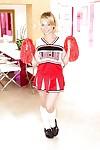 18 year old cheerleader Aurora Monroe strips off her cute uniform