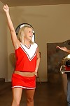 Slutty teen gets fucked and tastes some cum at her cheerleader audition