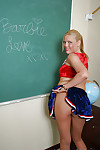 Huge ass and tit blonde schoolgirl teen Barbie looks so sexy naked