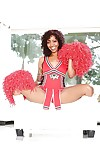 Ebony cheerleader Devils Film is showing all of her tattoos