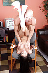 Office fuck featuring an superb cheerleader girl Raven Bay and her man