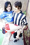 Young and pretty cheerleader Savannah gets banged deep outdoors