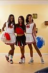 Ebony lesbians Ana Foxxx, Leilani Leeane, Skin Diamond strip together