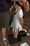 Pom pom gal accepts gang gangbanged by basketball teach and team