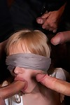 Perspired adult baby fairy-haired sasha rose attains attached up, blindfolded and surprised by multiple