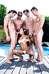 Damp Chinese jade sin attains gang team-fucked in the pool