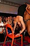 Lascivious males shagging wonderful drunk darlings at a vast banging club