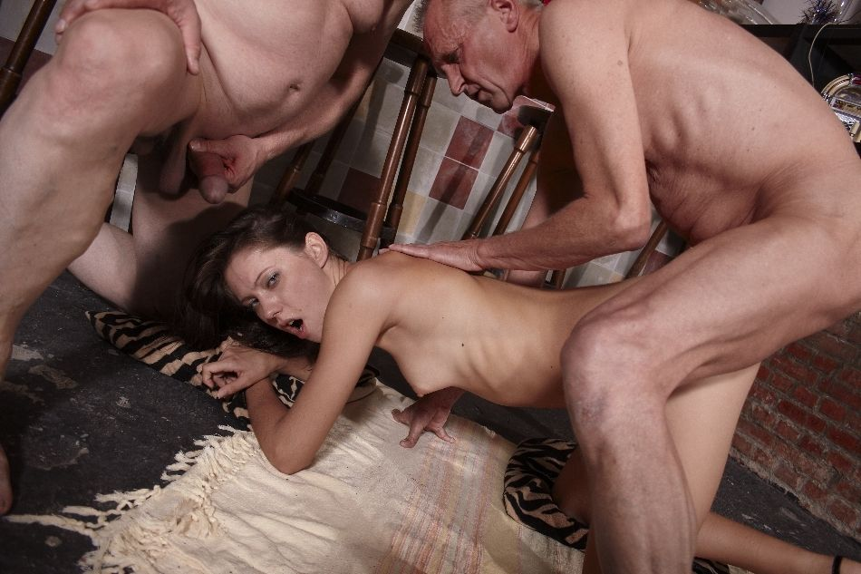 She\'s AMAZINGLY beautiful! This lass has fucking with 3 old guys like she\'s desperately hungry. This lass swallows \'em whole, they fuck her ANALLY, that babe drinks 3 different sperms. This motion picture is one of the best.