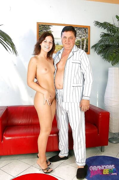 Glamorous amateur angel is fond of hardcore anal digging with an oldman
