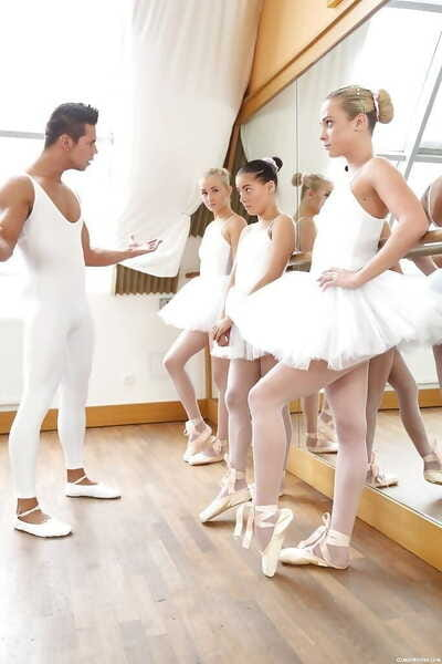 Young ballerinas drilled in contradictory groupie - part 2244