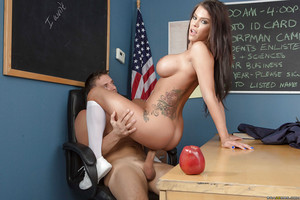 Amazing tanned doll Peta Jensen was screwed intense by her daddy