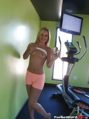 Perspired blond teenager Alyssa lovely wild non stripped self shots at home