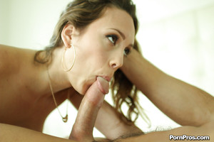 Marvelous chicito Jade Nile is blowing load of ball cream afterward blowjob